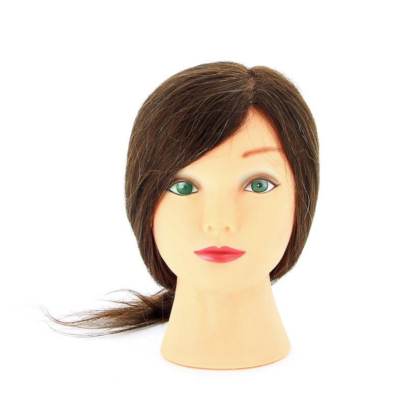 """Голова-манекен учебная """"шатенка"""" для парикмахеров, натуральные волосы 30-40 см M-2023M-6"""