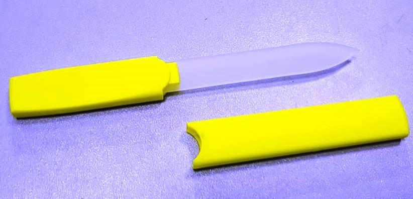 Пилка стеклянная для ногтей в чехле