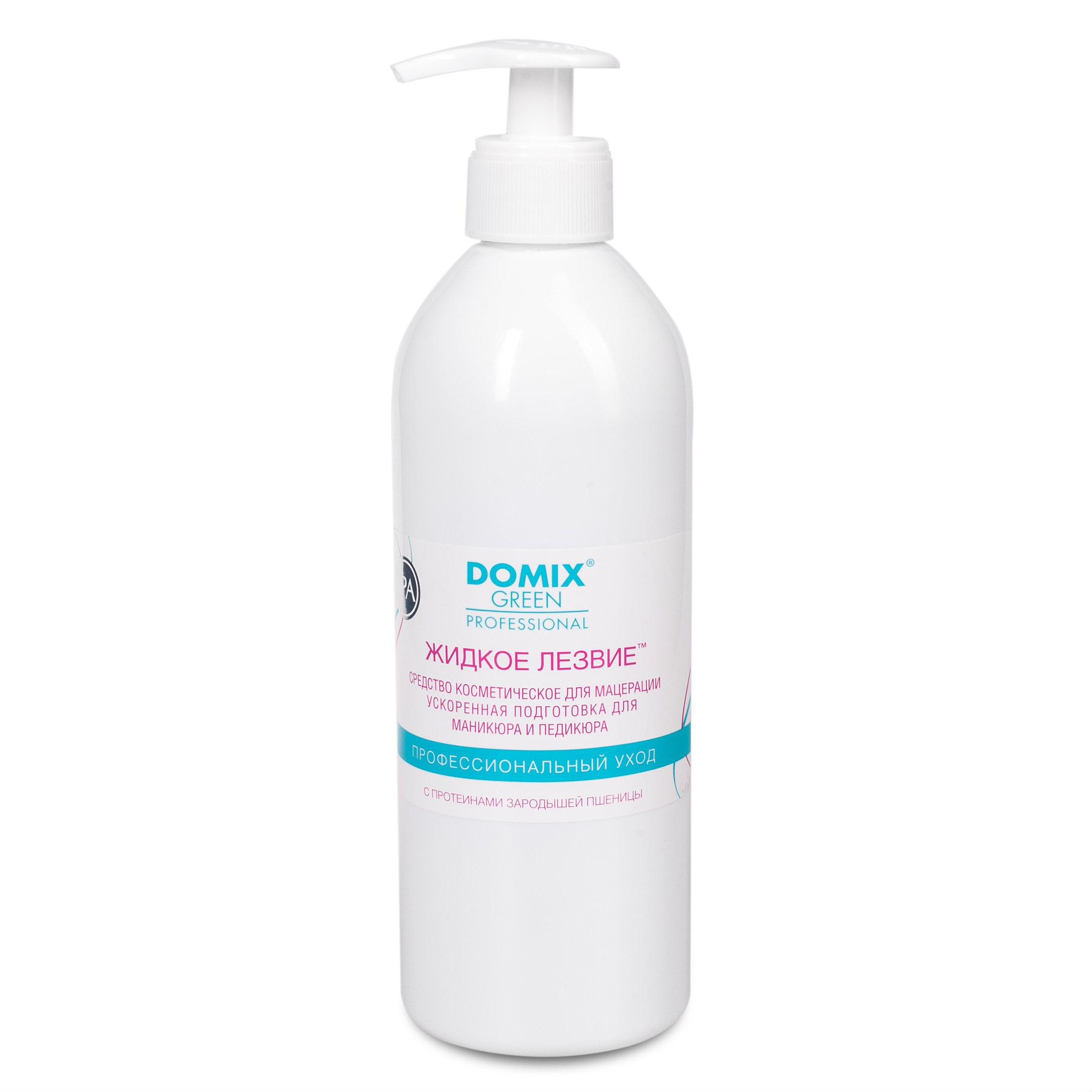 Жидкое лезвие для ванночек, с протеинами зародышей пшеницы, 500 мл, Domix, DOMIX GREEN PROFESSIONAL