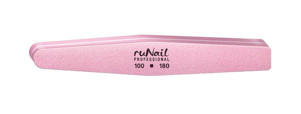 Шлифовщик (универсальный, розовый, ромб, 100/180). RuNail.
